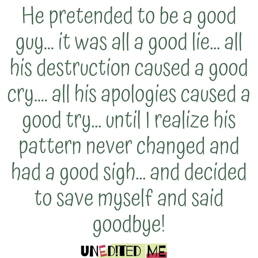 Narcissistic Ex _ pretended to be a good guy